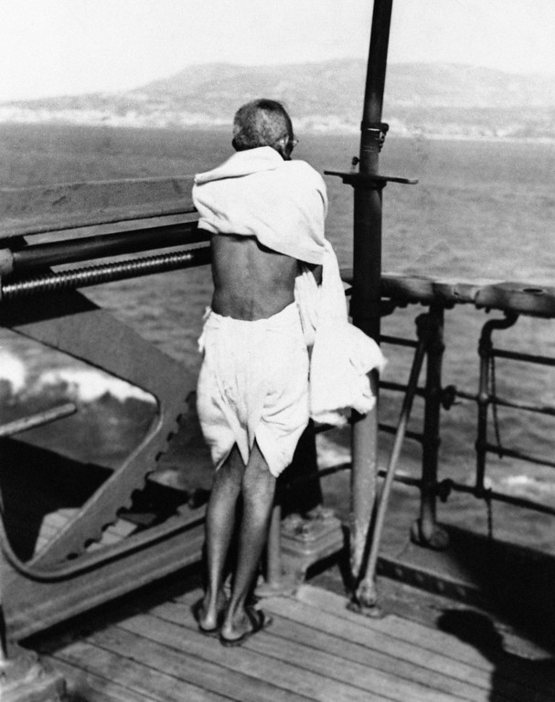 . Mahatma Gandhi of India wearing the famous linen cloth in 1931. (AP Photo)