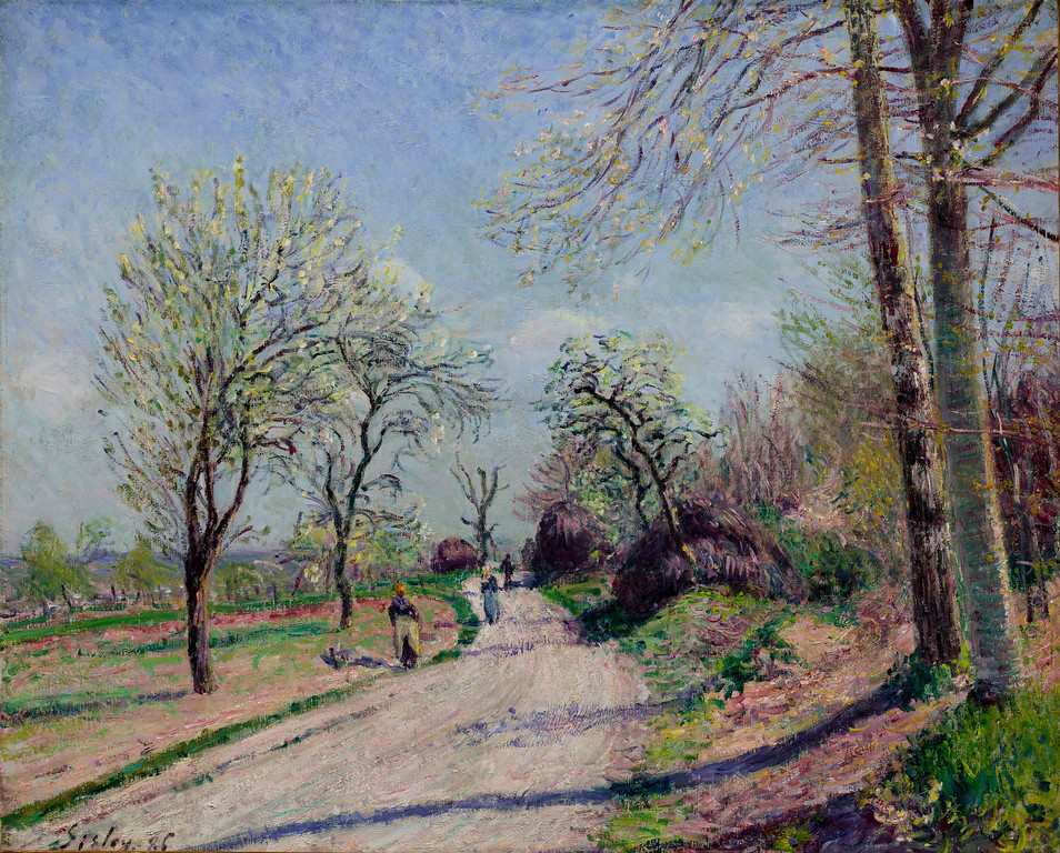 ". Alfred Sisley, ""Route De Venot A Moret,\"" 1886.  (Image provided by the Denver Art Museum)"
