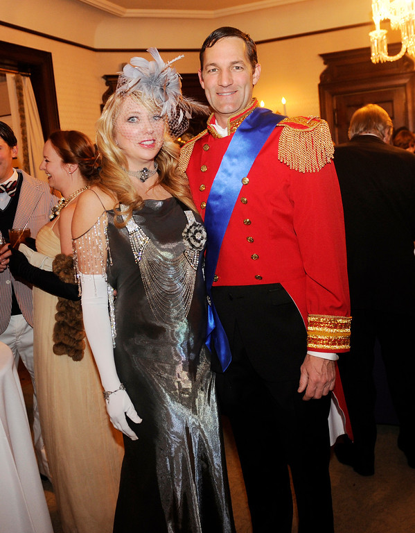 . Co-chair Holly Kylberg and Scott Yenzer arrived looking like they had just stepped out of a fairy tale. The Rocky Mountain PBS Masterpiece Costume Ball attracted more than 200 fans of the Downton Abbey television drama Saturday night, January 4, 2014 at the Grant Humphreys Mansion. The show\'s new season starts Sunday night. The event also included a silent auction, historical displays, and a costume contest. Photo By Karl Gehring/The Denver Post