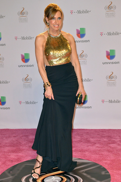 ". Lili Estefan arrives at the 25th Anniversary Of Univision\'s ""Premio Lo Nuestro A La Musica Latina\"" on February 21, 2013 in Miami, Florida.  (Photo by Gustavo Caballero/Getty Images for Univision)"