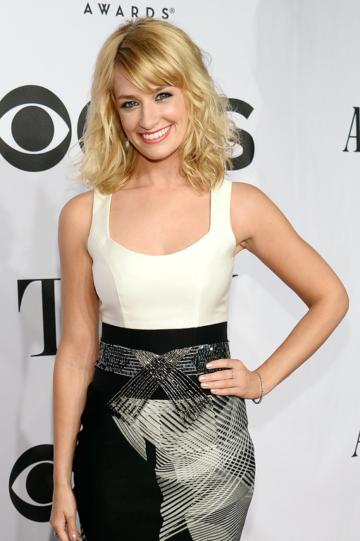 . Actress Beth Behrs attends the 68th Annual Tony Awards at Radio City Music Hall on June 8, 2014 in New York City.  (Photo by Dimitrios Kambouris/Getty Images for Tony Awards Productions)