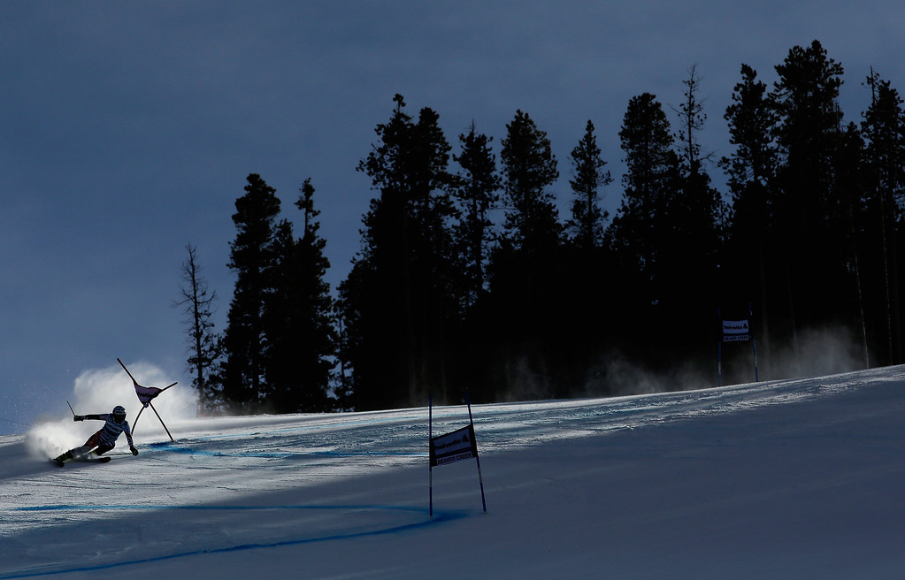 . Tanja Poutiainen of Finland in action during the second run of the FIS Beaver Creek Ladies\' Giant Slalom World Cup Race  on December 1, 2013 in Beaver Creek, Colorado.  (Photo by Ezra Shaw/Getty Images)