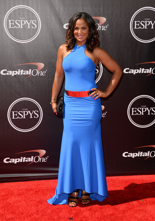 . LOS ANGELES, CA - JULY 16: Female boxer Laila Ali attends The 2014 ESPYS at Nokia Theatre L.A. Live on July 16, 2014 in Los Angeles, California.  (Photo by Jason Merritt/Getty Images)