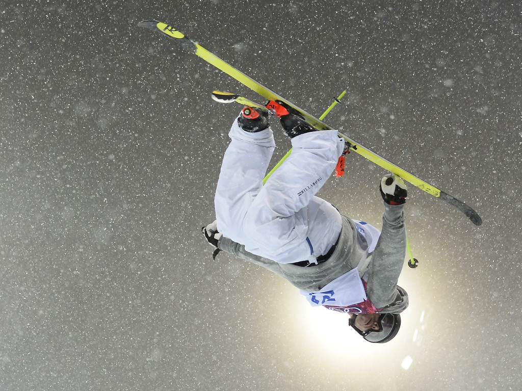 . France\'s Benoit Valentin competes in the Men\'s Freestyle Skiing Halfpipe finals at the Rosa Khutor Extreme Park during the Sochi Winter Olympics on February 18, 2014.  FRANCK FIFE/AFP/Getty Images