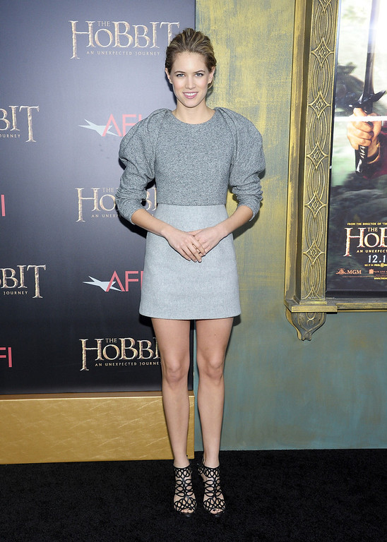 """. Cody Horn attends \""""The Hobbit: An Unexpected Journey\"""" New York Premiere Benefiting AFI at Ziegfeld Theater on December 6, 2012 in New York City.  (Photo by Michael Loccisano/Getty Images)"""