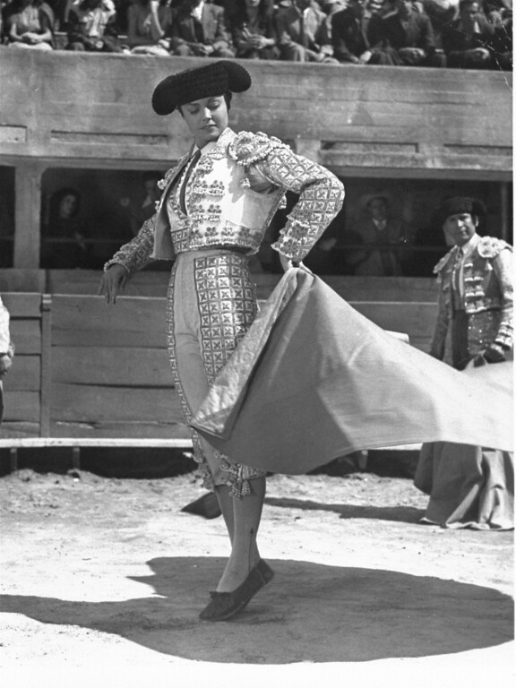 """. Esther Williams is shown in character as the matador in the 1947 film  \""""Fiesta\"""".  (AP Photo)"""