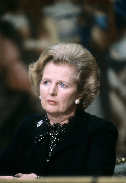". A picture dated September 9, 1980 shows British Prime Minister Margaret Thatcher attending the 5th Franco-British summit in Paris. Former British prime minister Margaret Thatcher, the ""Iron Lady\"" who shaped a generation of British politics, died following a stroke on April 8, 2013 at the age of 87, her spokesman said.  GABRIEL DUVAL/AFP/Getty Images"