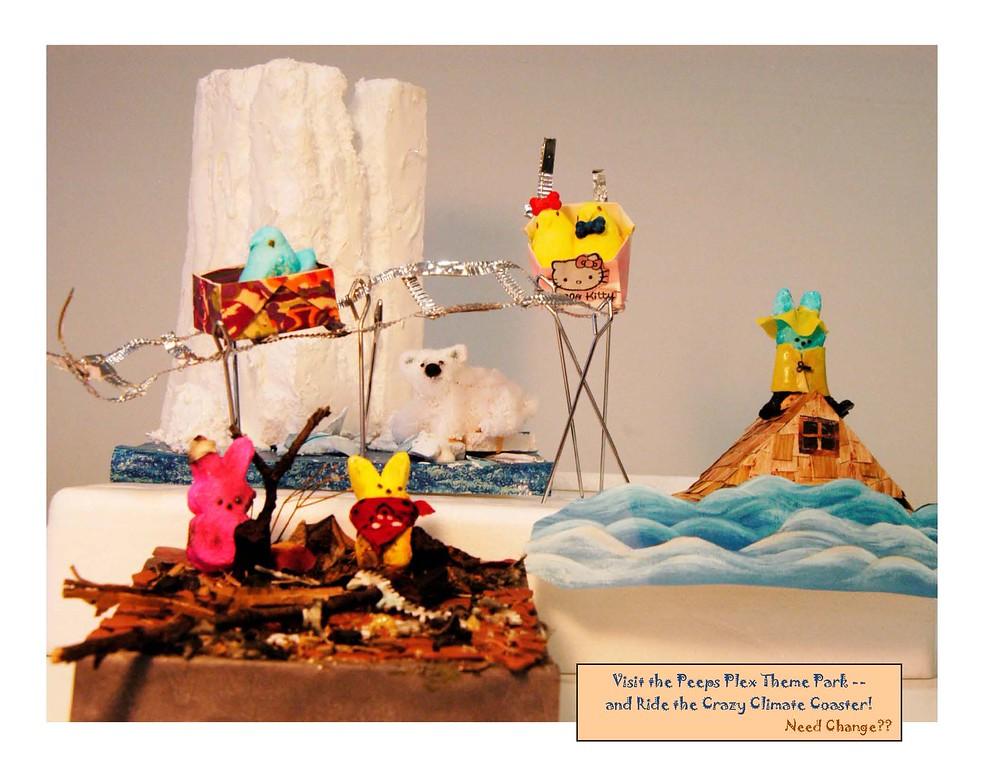 ". \""Peeps Plex Crazy Climate Coaster\"" by Janis Nowlan"