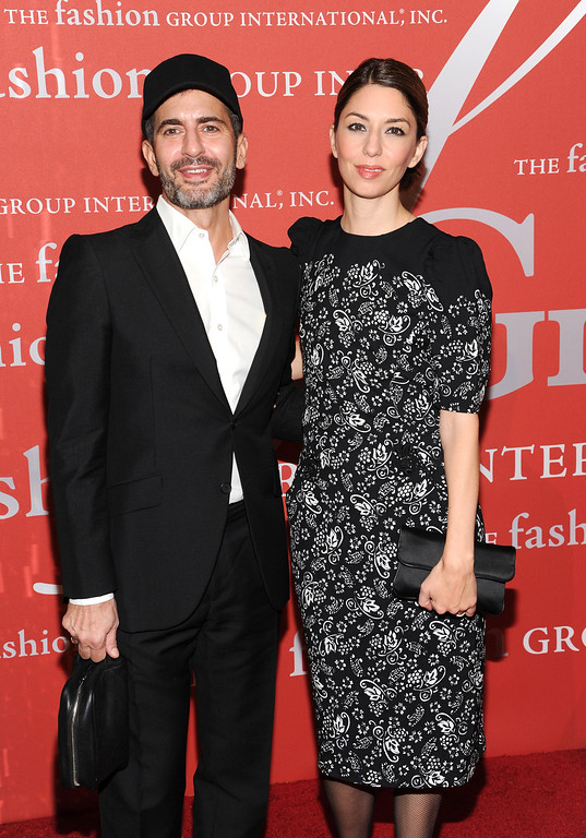 ". ""Superstar Award\"" honoree, designer Marc Jacobs and director Sofia Coppola attends the Fashion Group International\'s 30th annual \""Night Of Stars\"" awards gala at Cipriani\'s Wall Street on Tuesday, Oct. 22, 2013, in New York. (Photo by Evan Agostini/Invision/AP)"
