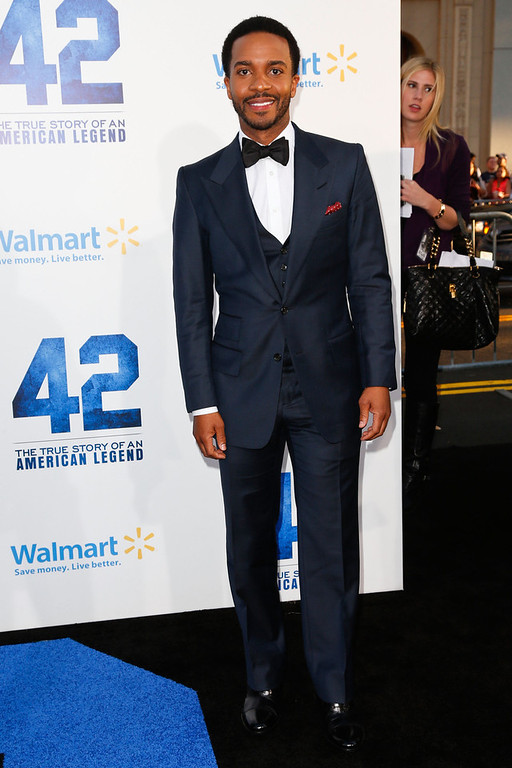 . Actor Andre Holland attends the premiere of Warner Bros. Pictures\' And Legendary Pictures\' \'42\' at TCL Chinese Theatre on April 9, 2013 in Hollywood, California.  (Photo by Imeh Akpanudosen/Getty Images)