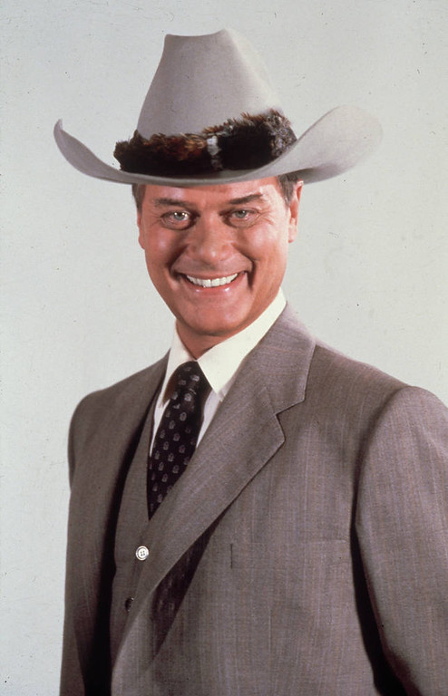 . Actor Larry Hagman, who found worldwide fame in his role as J.R. in the American soap opera \'Dallas\'.  (Photo by Hulton Archive/Getty Images)