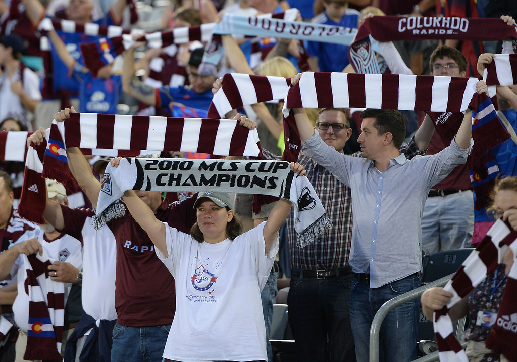 . The Colorado Rapids hosted Chivas USA at Dick\'s Sporting Goods Park Friday night, July 25, 2014. Photo by Karl Gehring/The Denver Post
