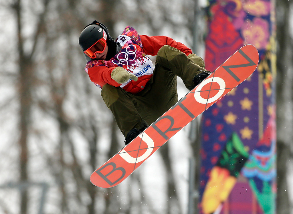 . Switzerland\'s Christian Haller competes during the men\'s snowboard halfpipe qualifying at the Rosa Khutor Extreme Park, at the 2014 Winter Olympics, Tuesday, Feb. 11, 2014, in Krasnaya Polyana, Russia. (AP Photo/Jae C. Hong)
