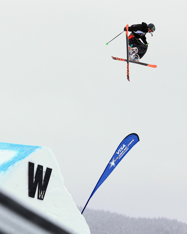 . Alex Beaulieu-Marchand of Canada skis to sixth place in the men\'s FIS Slopestyle Ski World Cup at the U.S. Snowboarding and Freeskiing Grand Prix on December 21, 2013 in Copper Mountain, Colorado.  (Photo by Doug Pensinger/Getty Images)