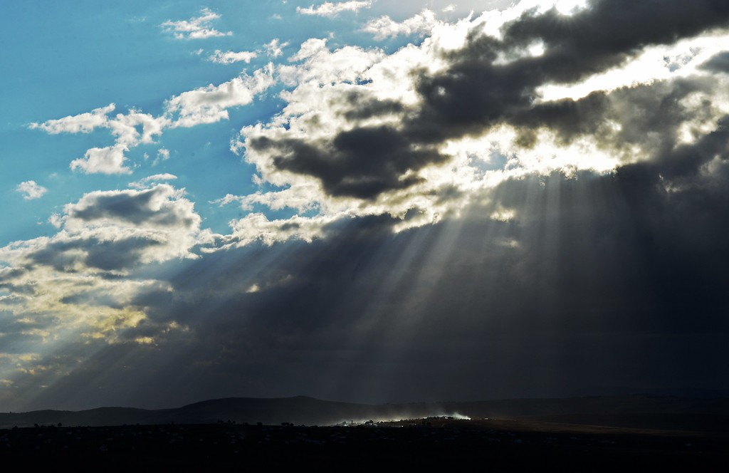 . Sunrays illuminate Qunu, the village where former South African President Nelson Mandela grew up, on June 27, 2013. South African President Jacob Zuma said on June 27 that the condition of ailing anti-apartheid hero Nelson Mandela had improved overnight, but he remains critical but stable. CARL DE SOUZA/AFP/Getty Images