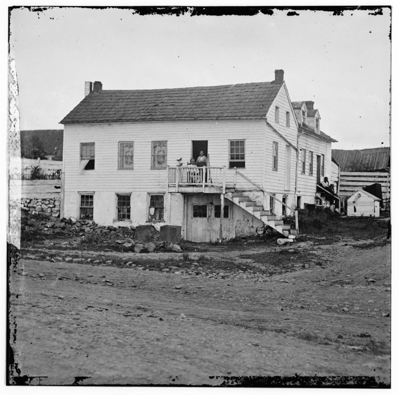 . Gettysburg, Pennsylvania. John L. Burns cottage. (Burns seated in doorway)  - Library of Congress Prints and Photographs Division Washington, D.C.