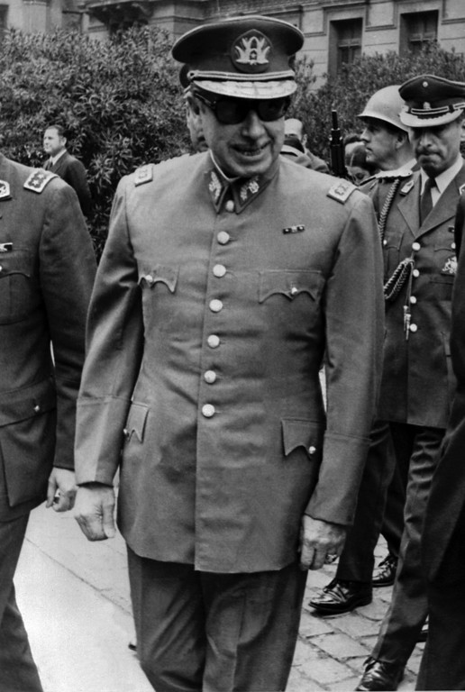 . Picture of September 1973 of the president of the Chilean military junta, General Augusto Pinochet, in Santiago, following the CIA-aided coup against democratically elected President Salvador Allende.  AFP PHOTOSTR/AFP/Getty Images