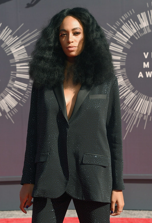 . Singer Solange Knowles attends the 2014 MTV Video Music Awards at The Forum on August 24, 2014 in Inglewood, California.  (Photo by Jason Merritt/Getty Images for MTV)