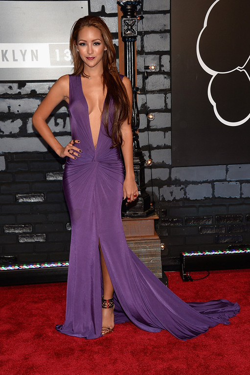 . Comedian Melanie Iglesias attends the 2013 MTV Video Music Awards at the Barclays Center on August 25, 2013 in the Brooklyn borough of New York City.  (Photo by Jamie McCarthy/Getty Images for MTV)