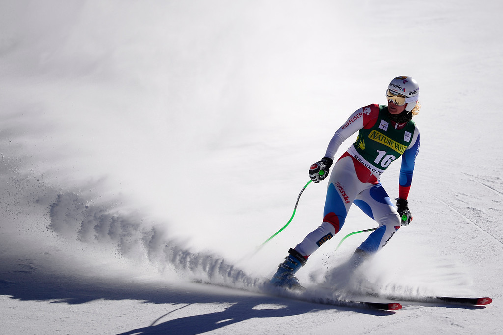 . Switzerland\'s Nadja Jnglin-Kamer finishes her run.  (Photo by AAron Ontiveroz/The Denver Post)