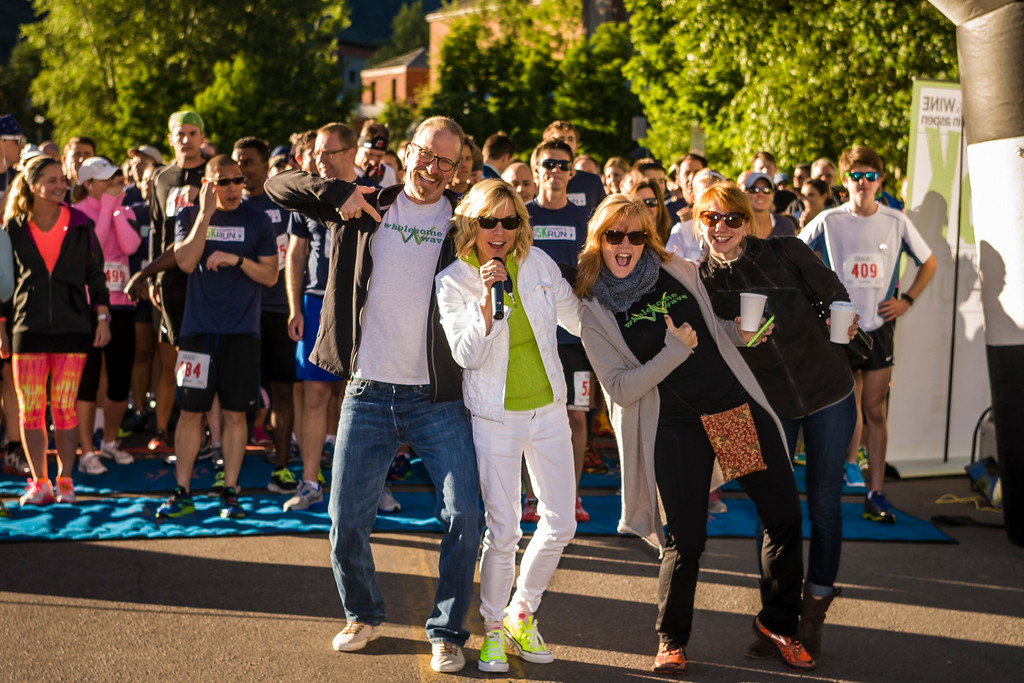 . ASPEN, CO - JUNE 20: Wholesome Wave founder Michel Nischan , Pure Leaf Iced Tea and celebrity culinary expert Gail Simmons help share the #loveofleaves (www.theloveofleaves.com) benefitting Wholesome Wave at the Celebrity Chef 5K Run, during the FOOD & WINE Classic in Aspen on June 20, 2014 in Aspen, Colorado. (Photo by Nick Tininenko/Getty Images for Pure Leaf Iced Tea)