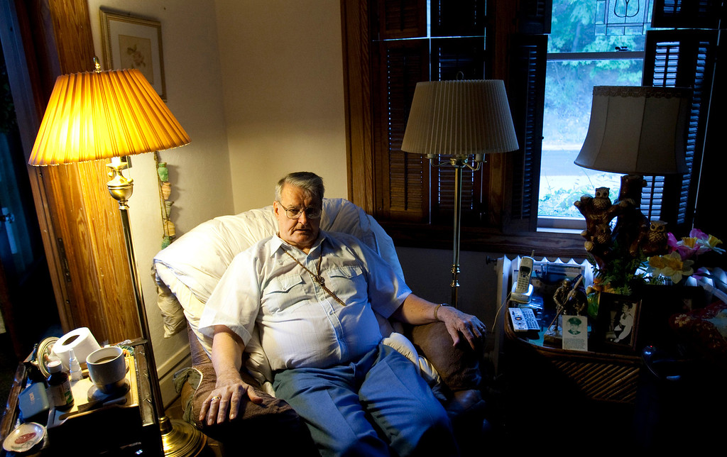 . Robert McGreevy, who spent several months in a North Korean POW camp with Father Emil Kapaun, is photographed at his home in Cumberland, Maryland.  (Travis Heying/Wichita Eagle/MCT)