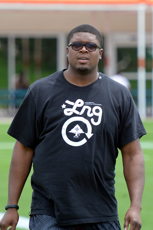 . Denver Broncos T Ryan Clady reports to camp July 24, 2013 at Dove Valley. (Photo By John Leyba/The Denver Post)