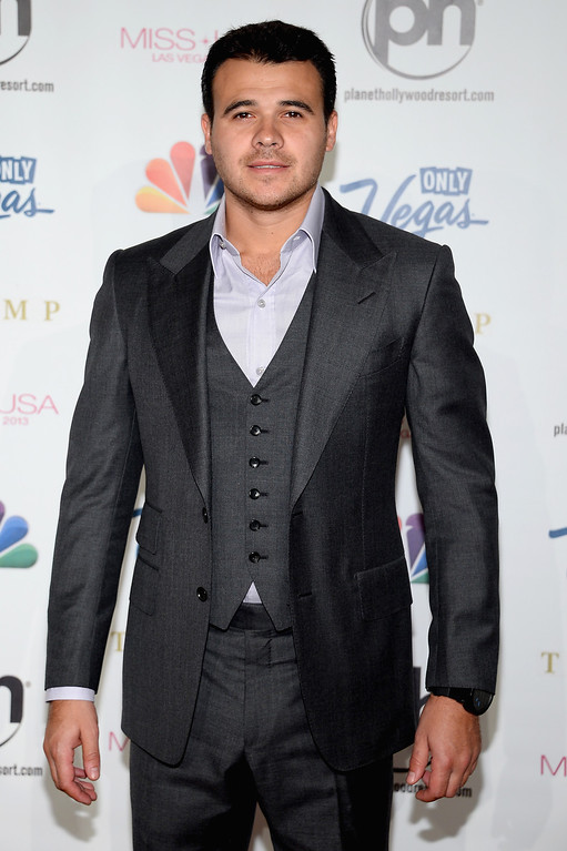 . Singer Emin Agalarov arrives at the 2013 Miss USA pageant at Planet Hollywood Resort & Casino on June 16, 2013 in Las Vegas, Nevada.  (Photo by Ethan Miller/Getty Images)