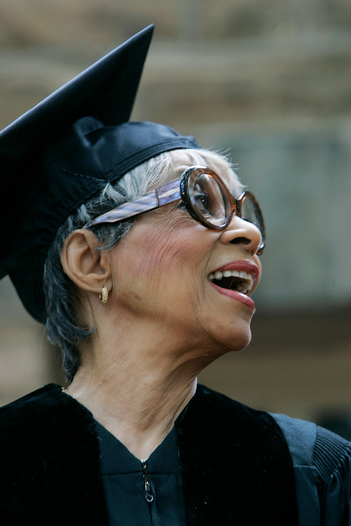 . Actress Ruby Dee Davis received a Doctor of Fine Arts honorary degree during Princeton University\'s 262nd Commencement Tuesday, June 2, 2009, in Princeton, N.J. (AP Photo/Mel Evans)