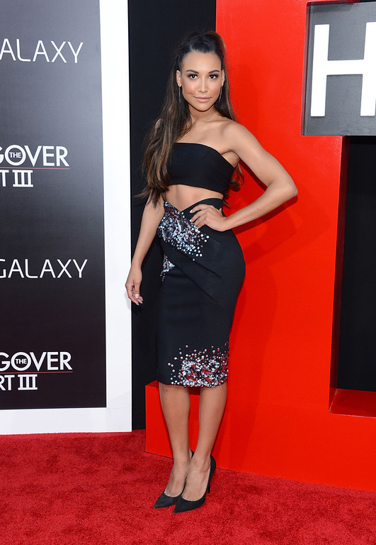 """. Actress Naya Rivera attends the premiere of Warner Bros. Pictures\' \""""Hangover Part 3\"""" on May 20, 2013 in Westwood, California.  (Photo by Jason Kempin/Getty Images)"""