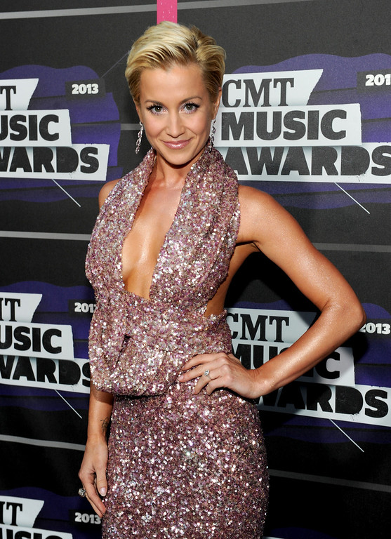 . Kellie Pickler arrives at the 2013 CMT Music Awards at Bridgestone Arena on Wednesday, June 5, 2013, in Nashville, Tenn. (Photo by Frank Micelotta/Invision/AP)