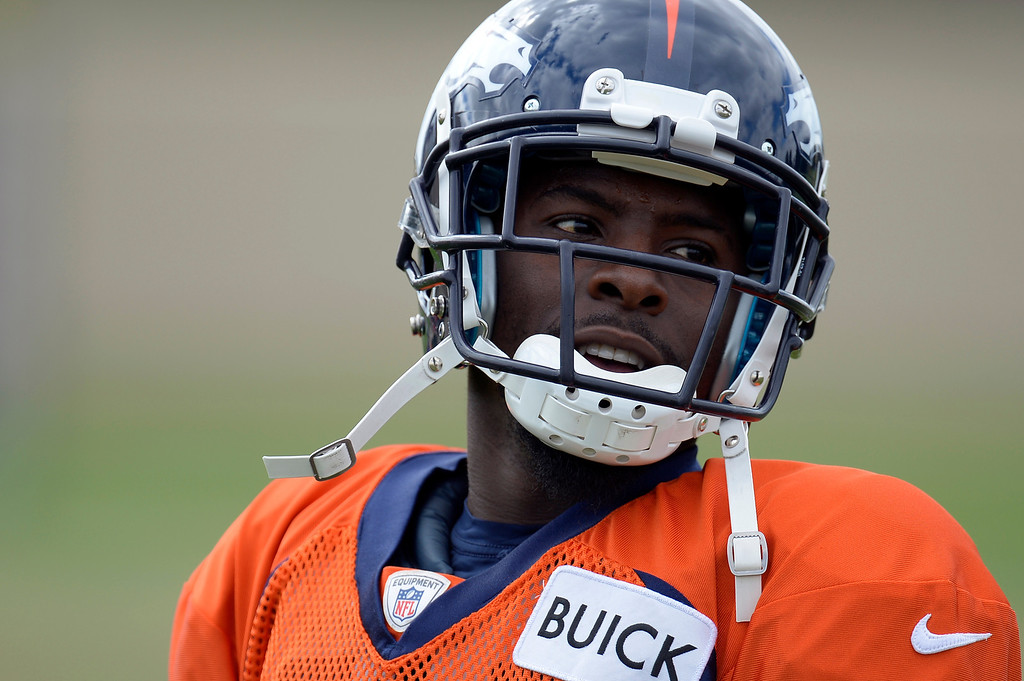 . Denver Broncos wide receiver Trindon Holliday (11) looks on during practice September 19, 2013 at Dove Valley. (Photo by John Leyba/The Denver Post)