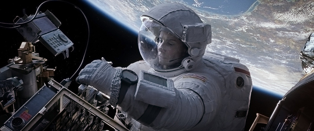 ". 2014 Academy Award Nominee for Best Production Design: ""Gravity.\"" (AP Photo/Warner Bros. Pictures)"