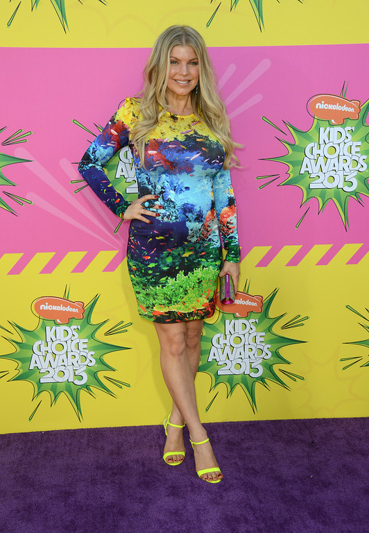 . Singer Fergie arrives at the 26th annual Nickelodeon\'s Kids\' Choice Awards on Saturday, March 23, 2013, in Los Angeles. (Photo by Jordan Strauss/Invision/AP)