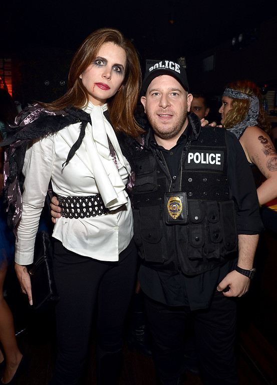 . Desiree Gruber (L) attends Shutterfly Presents Heidi Klum\'s 14th Annual Halloween Party sponsored by SVEDKA Vodka and smartwater at Marquee on October 31, 2013 in New York City.  (Photo by Mike Coppola/Getty Images for Heidi Klum)