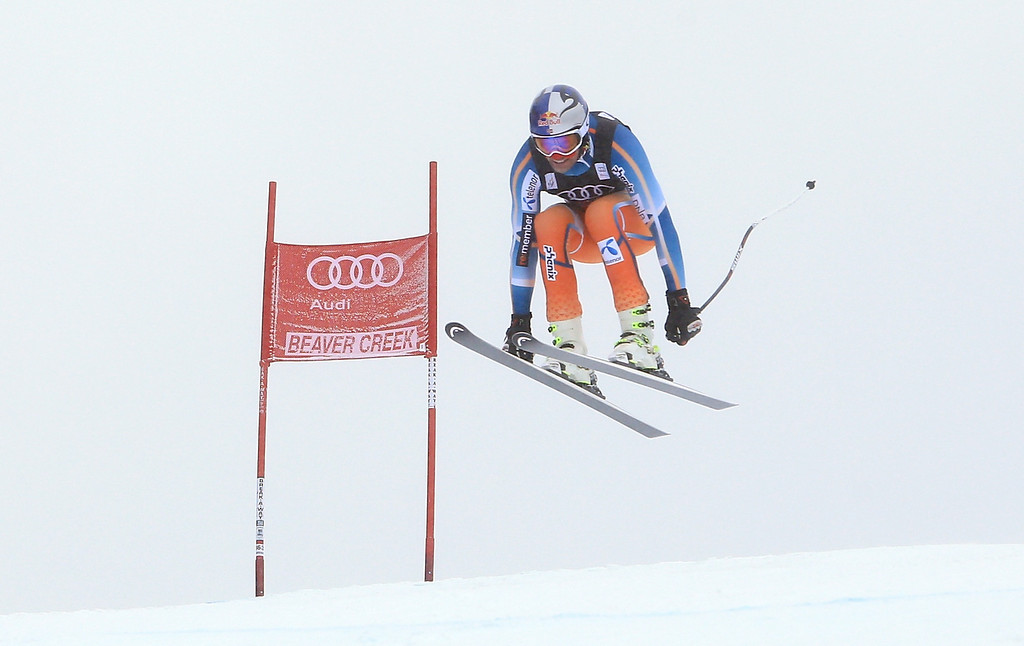 . Aksel Lund Svindal of Norway in action during the men\'s downhill race for the Birds of Prey Audi FIS Ski World Cup on December 6, 2013 in Beaver Creek, Colorado.  (Photo by Doug Pensinger/Getty Images)