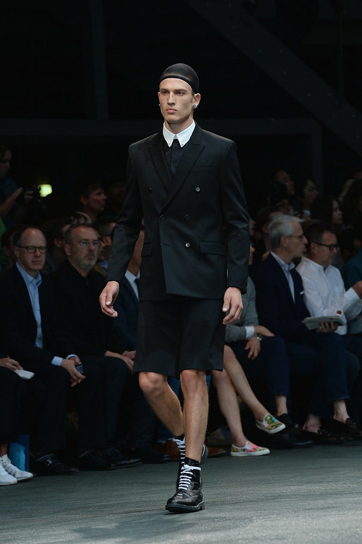 . A model walks the runway during the Givenchy show as part of the Paris Fashion Week Menswear Spring/Summer 2015 on June 27, 2014 in Paris, France.  (Photo by Francois Durand/Getty Images)