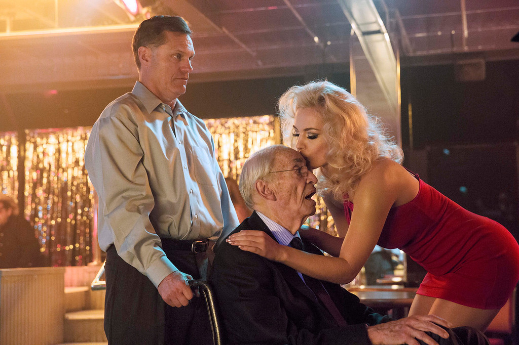 . (L to R) Martin Landau as J. Howard Marshall and Agnes Brucker as Anna Nicole Smith star in the all-new Lifetime Original Movie \'Anna Nicole\' premiering Saturday, June 29, at 8pm ET/PT on Lifetime.  (Photo by Bob Mahoney/Handout)