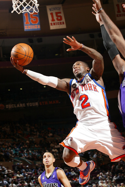 . Nate Robinson #2 of the New York Knicks shoots against the Sacramento Kings during the game on February 9, 2010 at Madison Square Garden in New York City. (Photo by Ray Amati/NBAE via Getty Images)