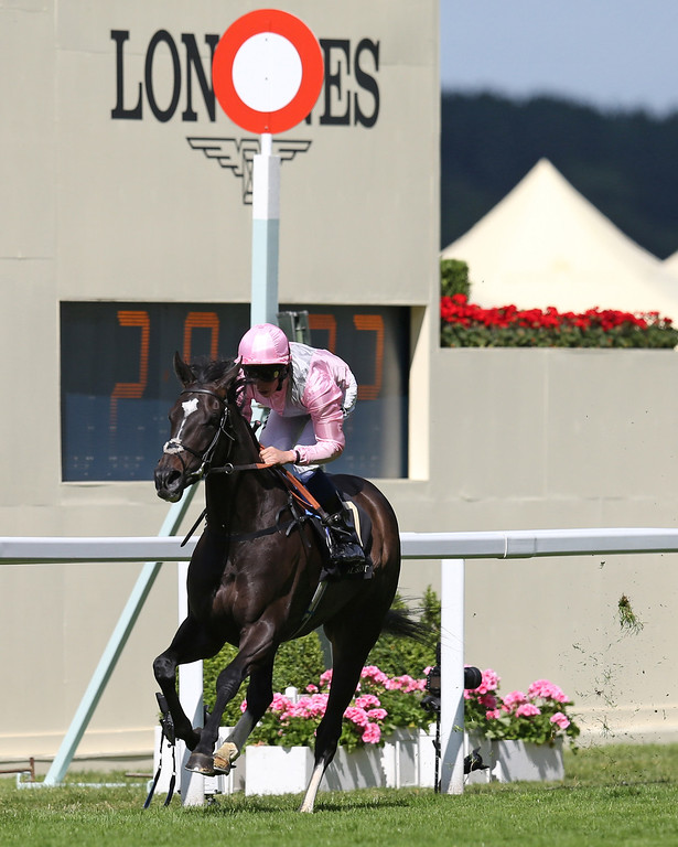 . The Fugue ridden by William Buick breaks wins the Prince of Wales\'s Stakes on day two of Royal Ascot at Ascot Racecourse on June 18, 2014 in Ascot, England. (Photo by Steve Bardens/Getty Images)