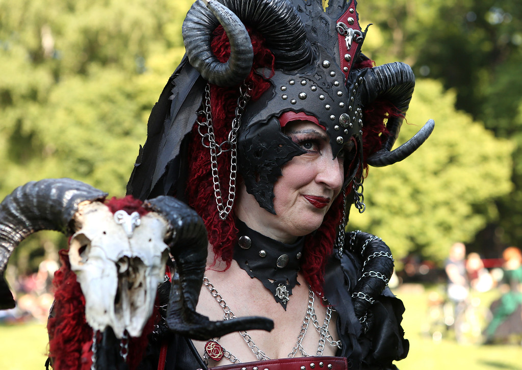 . A Gothic enthusiast attends the annual Wave-Gotik-Treffen music festival on June 6, 2014 in Leipzig, Germany.  (Photo by Adam Berry/Getty Images)