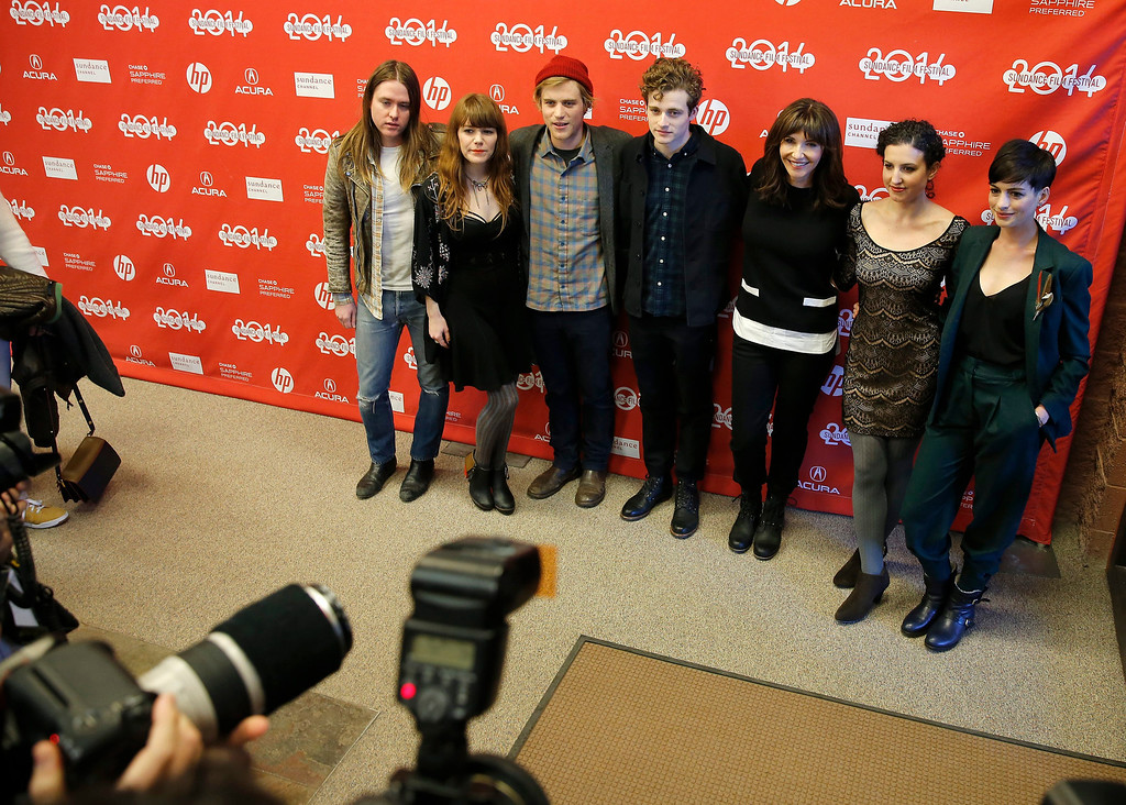 . The cast of \'Song One\' arrives for the premiere of the film during the 2014 Sundance Film Festival in Park City, Utah, USA, 20 January 2014. The festival runs from 16 to 26 January.  EPA/George Frey