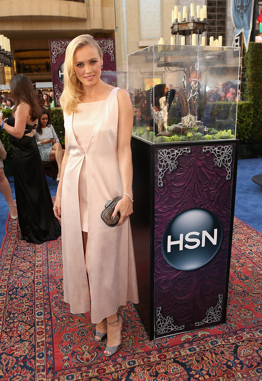 """. Actress  Hannah New attends the World Premiere Party For \""""Maleficent\"""" sponsored by HSN at the El Capitan Theatre on May 28, 2014 in Hollywood, California.  (Photo by Jesse Grant/Getty Images for HSN)"""