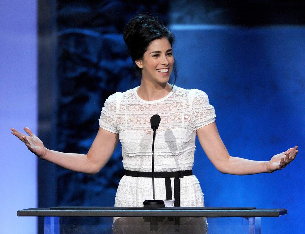 . Comedian Sarah Silverman speaks onstage during the 41st AFI Life Achievement Award Honoring Mel Brooks at Dolby Theatre on June 6, 2013 in Hollywood, California. Special Broadcast will air Saturday, June 15 at 9:00 P.M. ET/PT on TNT and Wednesday, July 24 on TCM as part of an All-Night Tribute to Brooks.  (Photo by Kevin Winter/Getty Images)