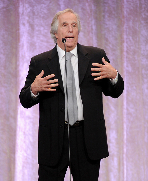 . Henry Winkler speaks on stage at the Critics\' Choice Television Awards in the Beverly Hilton Hotel on Monday, June 10, 2013, in Beverly Hills, Calif. (Photo by Frank Micelotta/Invision/AP)