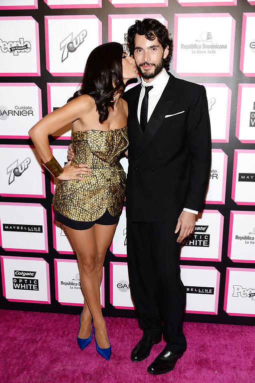 . TV personality Candela Ferro and actor Khotan Fernandez attend People En Espanol\'s 50 Most Beautiful 2013 at Marquee on May 13, 2013 in New York City.  (Photo by Dimitrios Kambouris/Getty Images for People en Espanol)