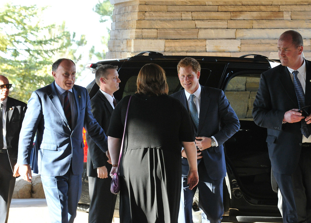 . SEDALIA, CO. - MAY 10 : Prince Harry arrived at Club House of Sanctuary Golf Course for the reception. Sedalia, Colorado. May 10, 2013. (Photo By Hyoung Chang/The Denver Post)