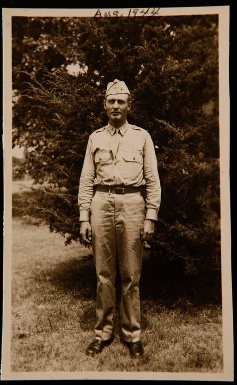 . Father Emil Kapaun, photographed in August 1944 while on leave, will be awarded the Medal of Honor on April 11, 2013. (Wichita Eagle/MCT)