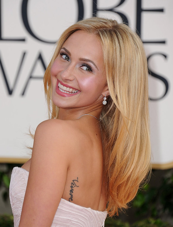 . Actress Hayden Panettiere arrives at the 70th Annual Golden Globe Awards at the Beverly Hilton Hotel on Sunday Jan. 13, 2013, in Beverly Hills, Calif. (Photo by Jordan Strauss/Invision/AP)