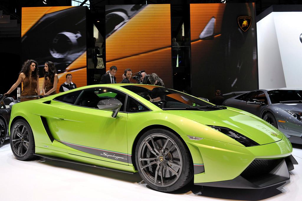 . The new Lamborghini Callardo LP 570-4 Superleggera is shown during the press day at the 80th Geneva International Motor Show, in Geneva, Switzerland on 02 March 2010.  EPA/MARTIAL TREZZINI